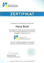 Zertifikat Gesundheitsberater Ernährungsberater